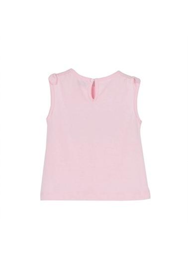 Silversun Kids Kız Bebek Baskılı Kol Ucu Fiyonk Detaylı Kolsuz Tişört Bk 115898 Pembe
